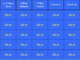 Factors and Multiples Jeopardy 4.OA.B.4