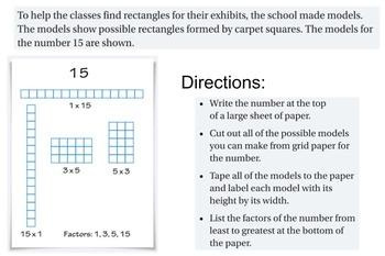 Factors and Multiples Lesson