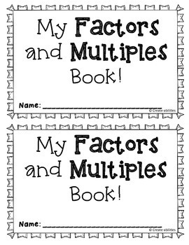 Factors and Multiples Book and Task Cards