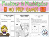 Factors and Multiples - NO PREP - Games