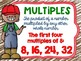 Factors and Multiples Poster Anchor Chart FREEBIE Farm Theme