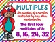 Factors and Multiples Poster Anchor Chart FREEBIE Friendly Monster Theme