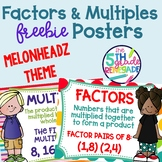 Factors and Multiples Poster Anchor Chart FREEBIE Melonhea