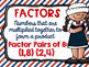 Factors and Multiples Poster Anchor Chart FREEBIE Nautical Theme