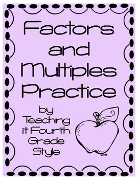 Factors and Multiples Practice