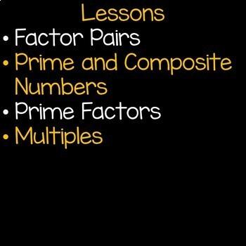 Factors and Multiples Math Unit 4th Grade Common Core
