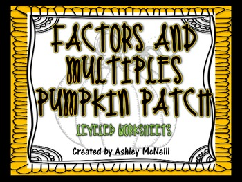 Factors and Multiples Pumpkin Patch