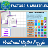 Factors and Multiples Puzzle - Print and Digital - Google