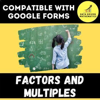 Factors and Multiples Quiz for Google Forms™ - 4.OA.4