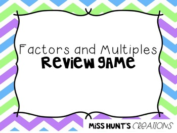 Factors and Multiples Review Game