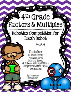 Factors and Multiples Robotics Competition for Dash Robot