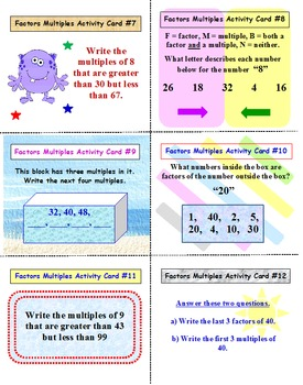 Factors and Multiples SUPER PACK!