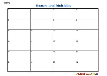 Factors and Multiples Task Cards - 24 Cards w/ QR Codes
