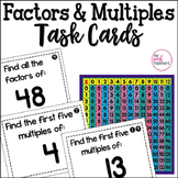 Factors and Multiples Task Cards  Common Core Aligned for 4th and 5th Grade