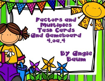 Factors and Multiples Task Cards and Board Game