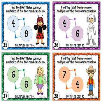 Factors and Multiples Task Cards {With Number Riddles}
