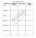 Factors and Multiples Vocabulary PowerPoint and Student Notes