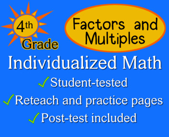 Factors and Multiples, 4th grade - worksheets - Individualized Math