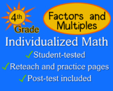 Factors and Multiples, 4th grade - worksheets - Individual