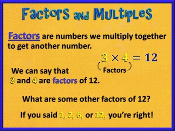 Factors and Multiples from 1 to 100 (PowerPoint Only)