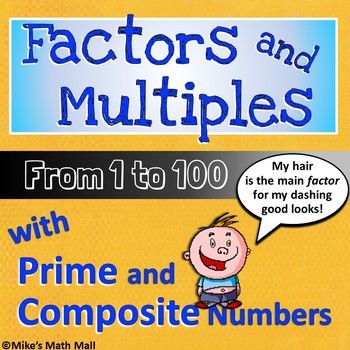 Factors and Multiples from 1 to 100 - Complete 4th Grade CCSS for 4.OA.B.4
