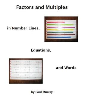 Factors and Multiples in Number Lines, Equations, and Words