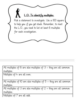 Factors and Multiples teaching pack (4 activities)