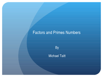 Factors and Prime Numbers