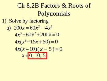 Factors and Roots of Polynomials