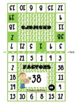 Factors Clip Cards