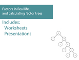 Factors in Real life, and calculating factor trees