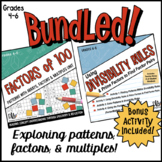 Factors of 100 Unit & Using Divisibility Rules Bundle