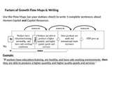 Factors of Growth Flow Chart & Writing