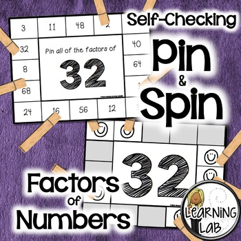 Factors of Numbers - Self-Checking Math Centers - Multiplication
