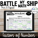 Factors of Numbers Activity - Battle My Math Ship Game