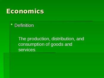 Factors of Production PowerPoint Lesson