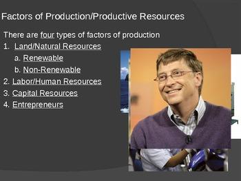 Factors of Production Powerpoint (Optional Cloze Notes)