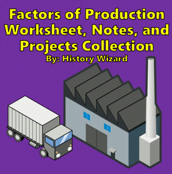 Factors of Production Worksheet, Notes, and Projects Collection