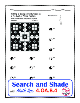 Factors of a Number Coloring Search and Shade