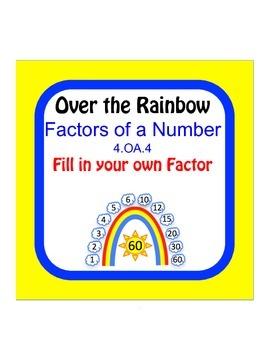 Factors of a Number Worksheet 4.OA.4