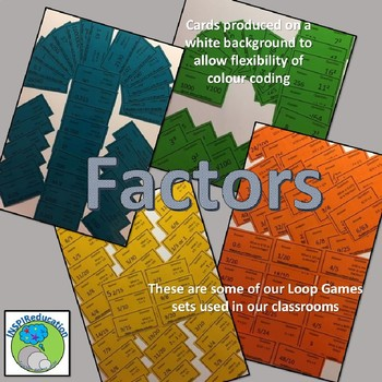 Factors of number 1 - 50 Loop Game (50 cards) I have ... Who has?