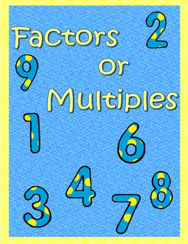 Factors or Multiples