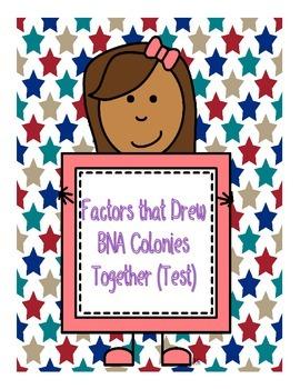 Factors that Drew BNA Colonies Together