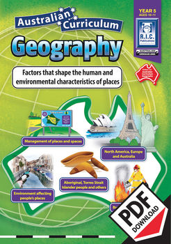 Factors that shape the human and environmental characteristics of place Year 5