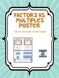 Factors vs. Multiples