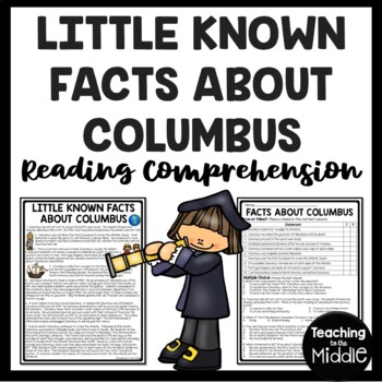 Facts About Columbus- Reading Comprehension Worksheet- Columbus Day