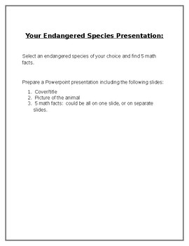 Facts about endangered species bar graph and data analysis tpt facts about endangered species bar graph and data analysis altavistaventures Gallery