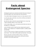 Facts About Endangered Species - Bar Graph and Data Analysis