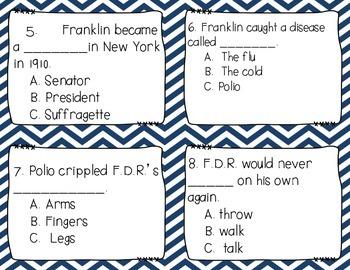 Franklin D. Roosevelt Task Cards FDR Scoot