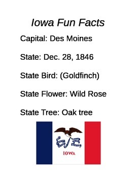 Facts About Iowa